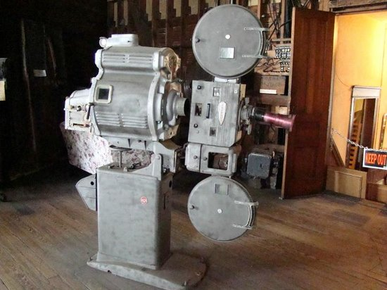 Arcadia, Floride : Antique movie projector on display