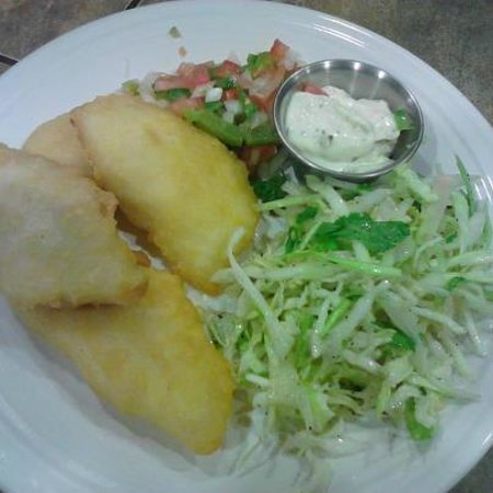 Mesilla, NM: Tilapia with a very fresh salad...