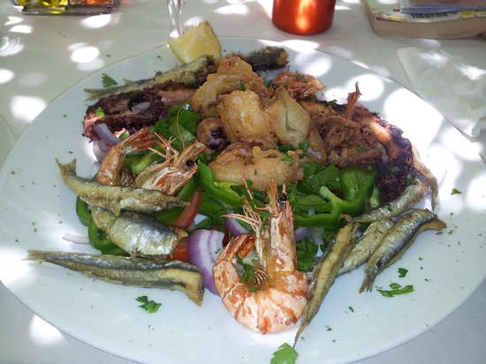 Liapades Beach Hotel: seafood salad