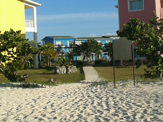 Hotel Playa Coco : View from Beach of Blue building...