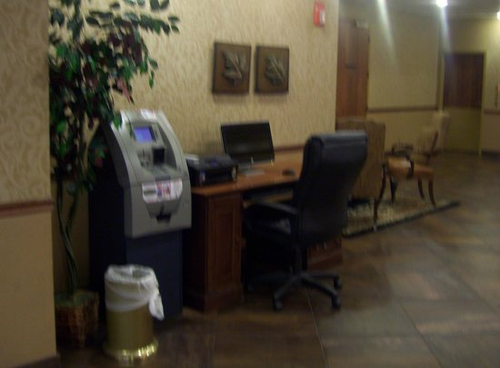 , : Guest-use computer and ATM