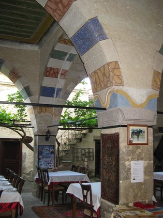 Mustafapasa, Turkey: dining area