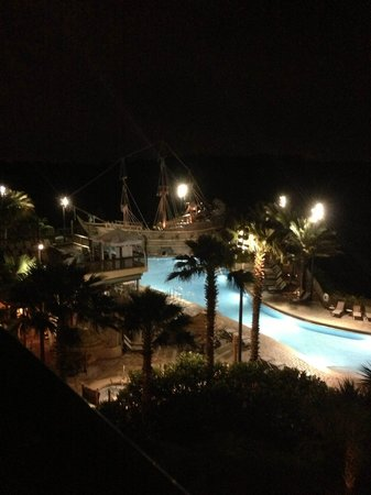 Lake Buena Vista Resort Village & Spa: View from our balcony at night