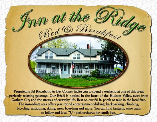 Wallkill, NY: Inn At The Ridge - Business Card