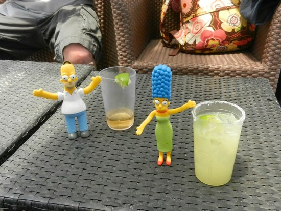 Catalonia Yucatan Beach: Homer and Marge getting their vacation on at Pure Chill Out