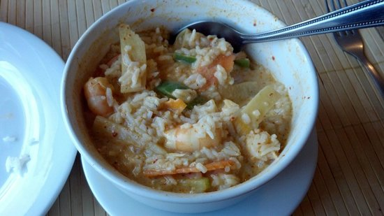 Sumter, SC: Red Curry with shrimp after I added the rice *My favorite on the menu!*