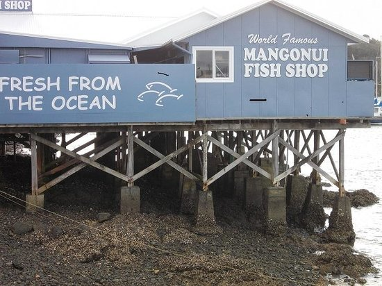 Mangonui, Nieuw-Zeeland: WORLD'S ???? FISH AND CHIPS