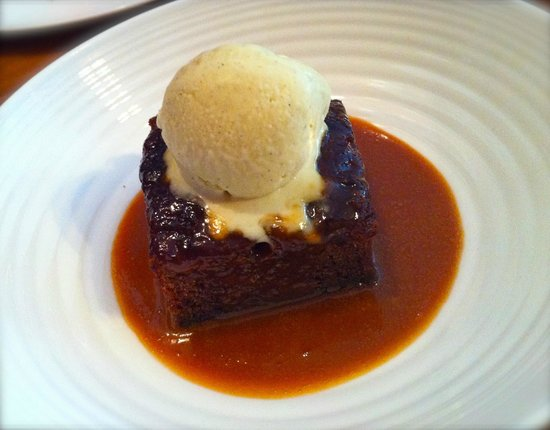 Sticky toffee pudding with banana ice cream - Picture of Foxtrot Oscar ...