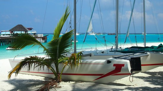 Iru Fushi Beach & Spa Resort: Boats for water sport