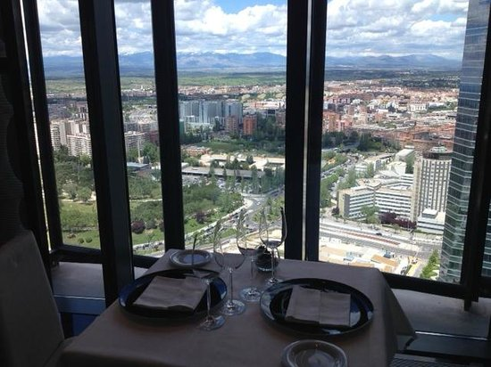 Eurostars Madrid Tower: 30th floor Restaurant - view