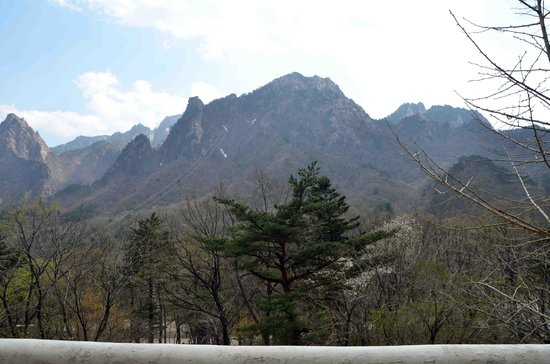 Sokcho, South Korea: mountain view from third floor balcony