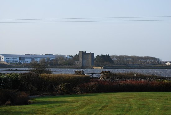 View from my room of Oranmore Castle across the bay.