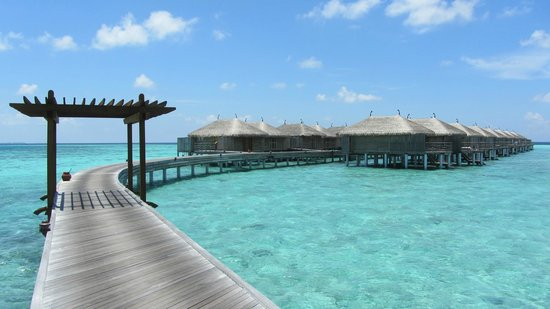 Constance Moofushi: Walkway to water villa