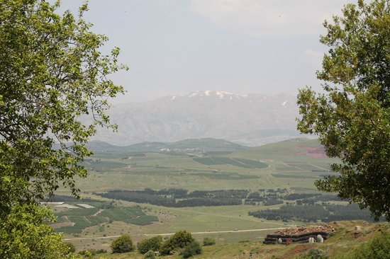 Golan Heights: Mount Hermon seen from Mount Bental