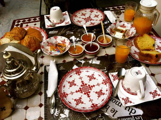 Riad Mirage: breakfast