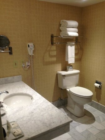 Crowne Plaza Providence-Warwick Airport: bathroom (handicap equipped)