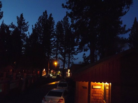 Tahoe Vista, CA: Night at the Lodge.