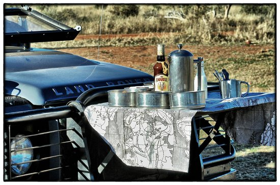 Madikwe Game Reserve, Republika Poudniowej Afryki: Coffee in the bush