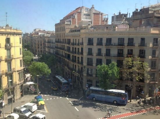 Renaissance Barcelona Hotel : This is a view from hotel room (upper hotel entrance). Go right way and find Paseo de Gracia, th