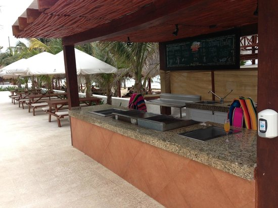 Hidden Beach Resort - Au Naturel Club: New beachside grill &amp; separate seating area near main pool