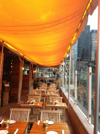 Sanctuary Hotel New York: Terrasse, restaurant