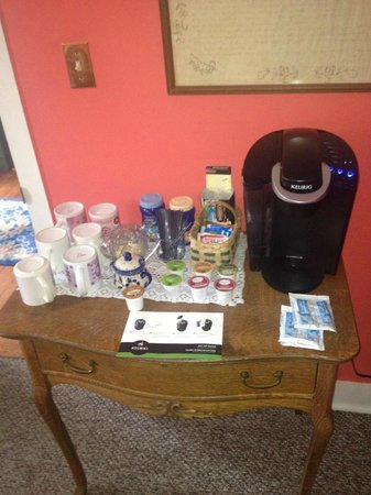 Hermann, MO: Nice Keurig coffee provided