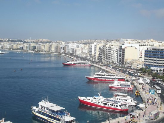 Sliema Marina Hotel: Tigne from Dining Room