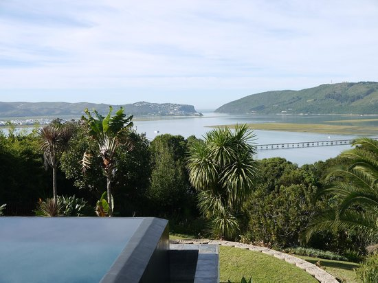 Cambalala: View pf the Knysna River and Heads from guest house rooms