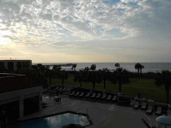 Springmaid Beach Resort & Conference Center: View from balcony of room 220