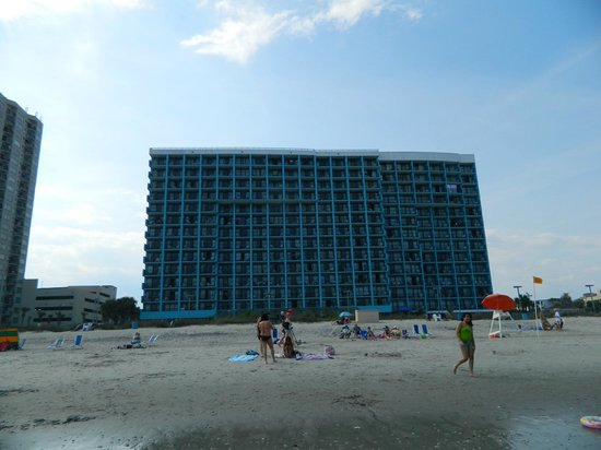 Landmark Resort: View of the hotel from the beach