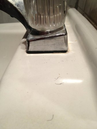 Arawak Inn: Sink not cleaned.  Whiskers in the sink