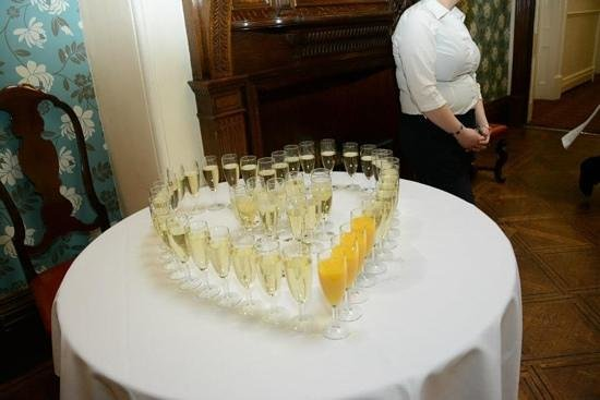Holmfirth, UK: Champaign + Orange after ceremony