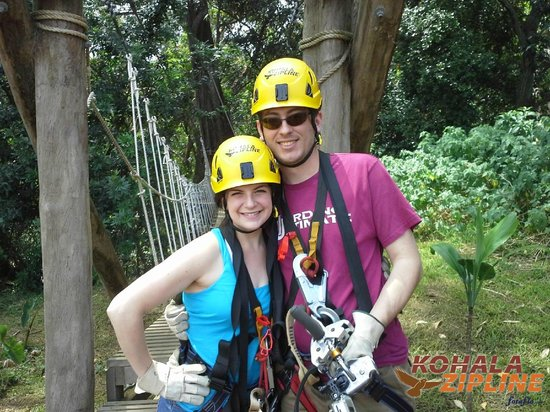 Kapaau, HI: Stephen and I zip lining