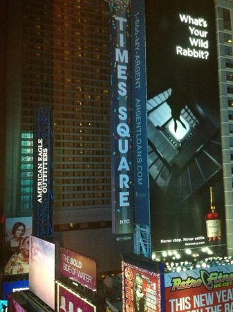 Renaissance New York Hotel Times Square: View from room at night