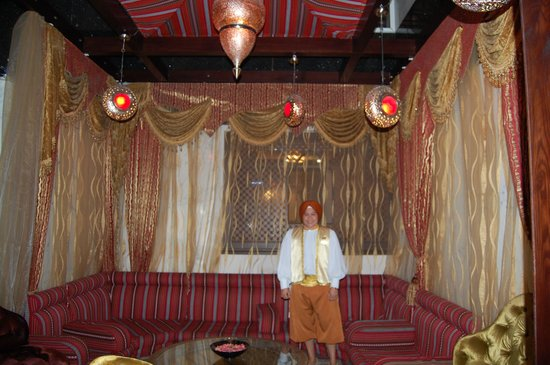 Arabian Courtyard Hotel & Spa: Dressed for the part - she was wonderful