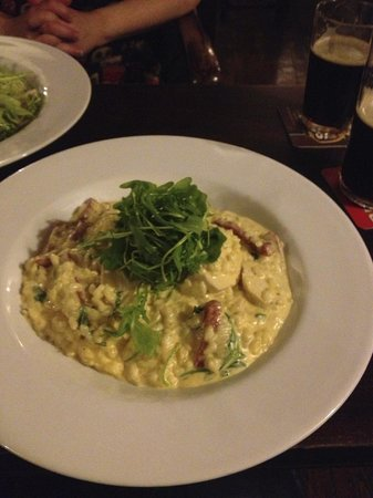 Denbigh, UK: Chicken and chorizo risotto