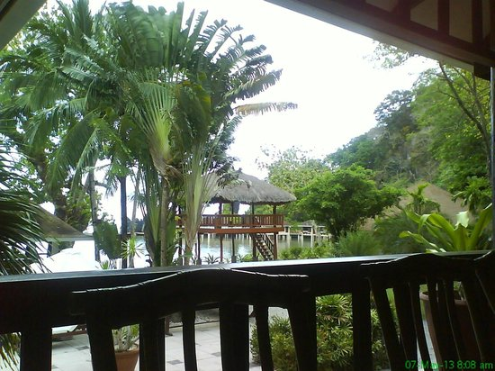 El Nido Resorts Lagen Island: view from the dining hall