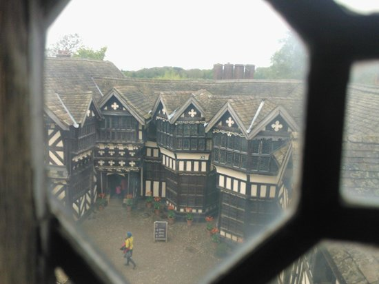 Cheshire, UK: Looking from the long gallery onto the inner courtyard