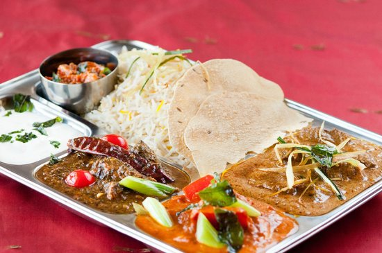 Labrador, Australia: Meat thali with 2 Curry $9.99