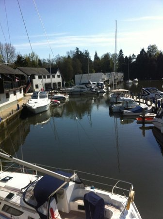 Windermere Marina Village: balcony view from cottage 17