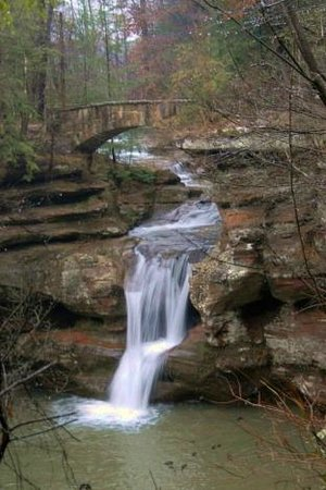 South Bloomingville, OH: Upper Falls at Old Man's Cave