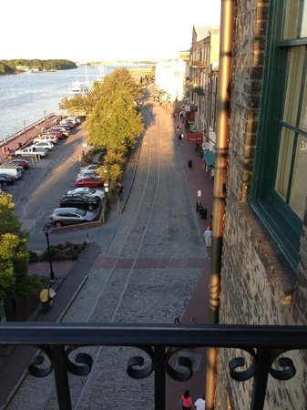 River Street Inn: 5th Floor Corner Balcony