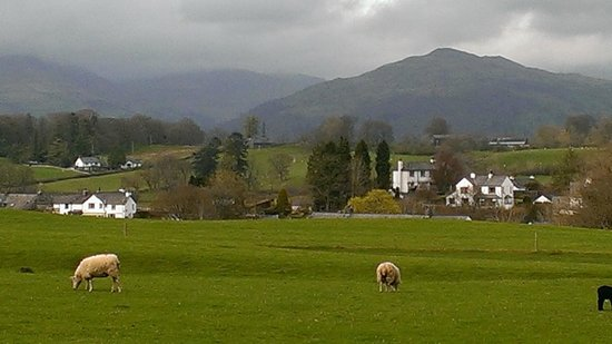 Hawkshead, UK : view from the lane