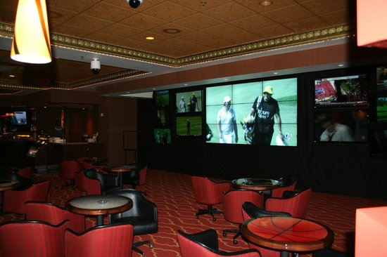 Circus Circus Hotel and Casino-Reno: The New Race and Sports Book, Bar and Lounge High Definition Video Wall