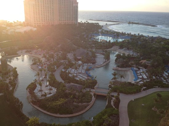 Atlantis - Royal Towers: View from our balcony.  You cannot see Harbor & Dolphin Key to the Left.
