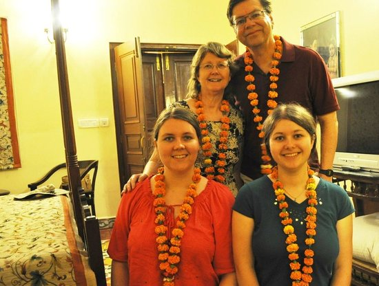 The Grand Imperial, Agra: Welcome garlands