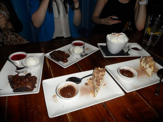 Dudley, UK: Chocolate Brownie, Crunchie Cheesecake, Popcorn Ice Cream Sundae