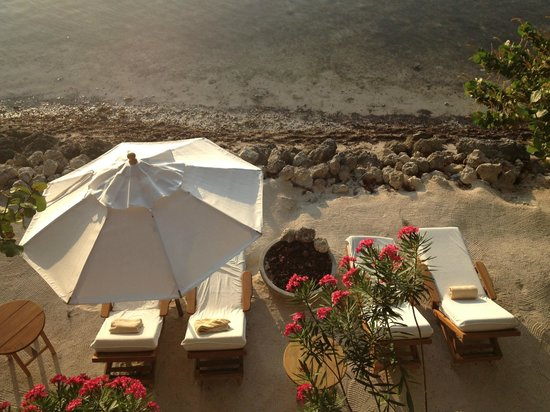 Little Palm Island Resort & Spa: View from our suite down to our semi private grounds..