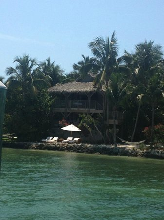 Little Palm Island Resort & Spa: View from the water to our room
