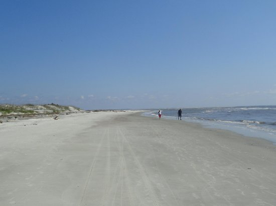 Hunting Island State Park Campground: Beach view
